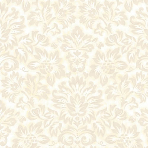 Gentle Garden Flannel - Cream tone on tone floral sprays