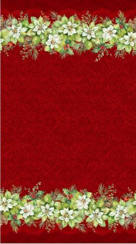 Deck The Halls - Red double edged border