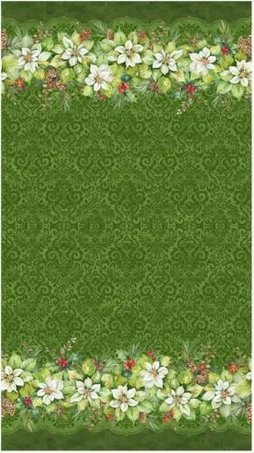 Deck The Halls - Green double edged border