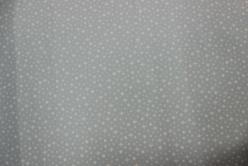 Arctic Flannel - white stars on soft blue background