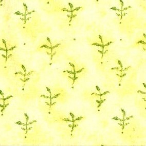 Jubilee Flannel - green corn leaves on yellow background