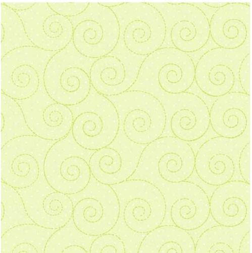 Basically Hugs Flannel - Green swirls