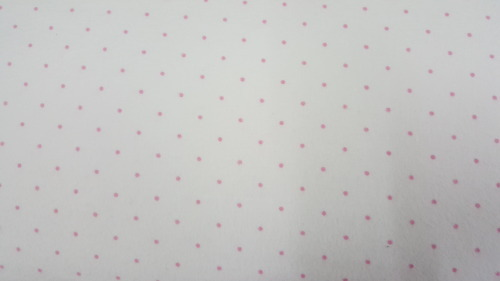 A Peaceful Garden Flannel - Pink spots on cream background
