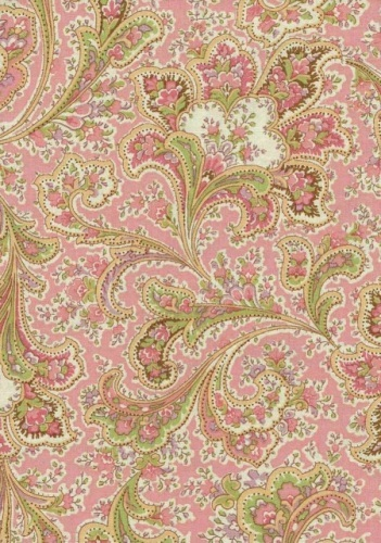 Cotton Backing - Pink Floral Paisley