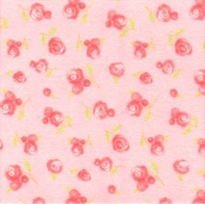 Sweet Baby Flannel - small apricot flowers on apricot background