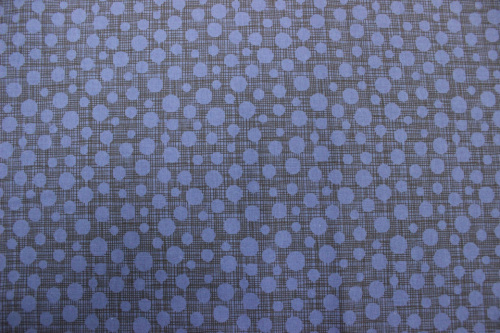 Hash Dots Cotton - Dark bright blue spots on black & blue checked background