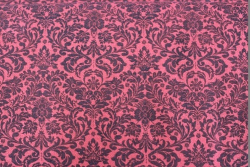 Dazzling Damask Cotton - Red damask sparkly print
