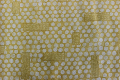 Gallery Fiori Cotton - Tone on tone butter yellow spots and rectangles
