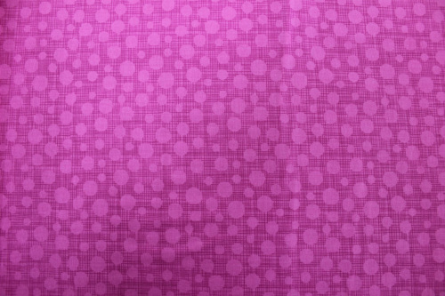 Hash Dots Cotton - Bright pink tone on tone circles & lines
