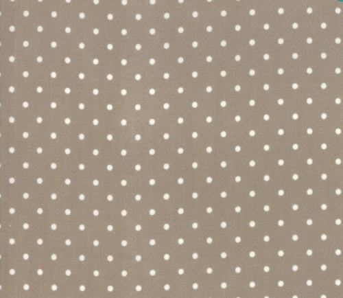 3 Sisters Rue 1800 Cotton - White spots on brown background