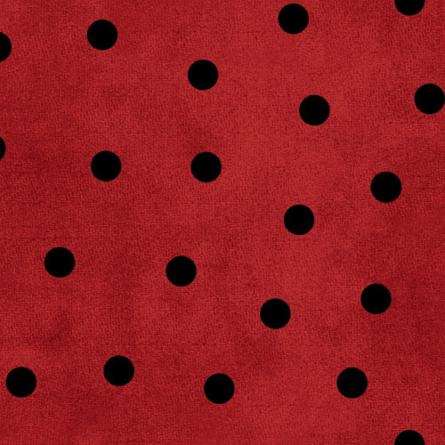 Most Wonderful Flannel - Black spots on Red