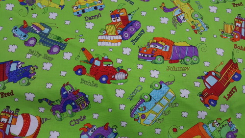 Monster Trucks - Trucks with names on bright green background