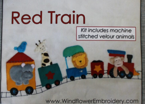 Red Train - Kit includes pattern, full instructions, felt & velour for the animals