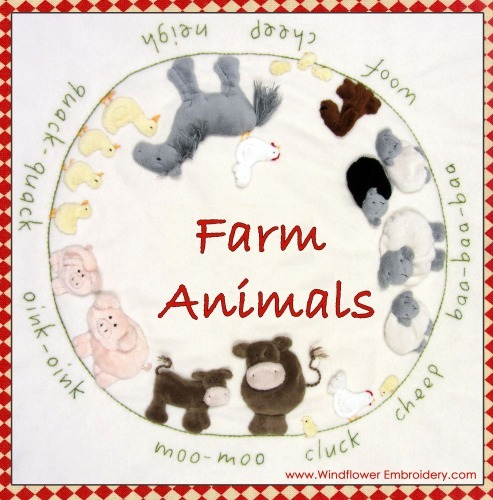 Farm Animals - Kit includes pattern, full instructions & pre-stitched animals
