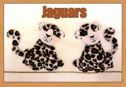 Jaguar Kit - Kit includes pattern, full instructions & velour for jaguars