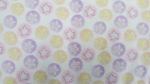 Stars & Circles Flannel - Circles of pink, purple & yellow with stars